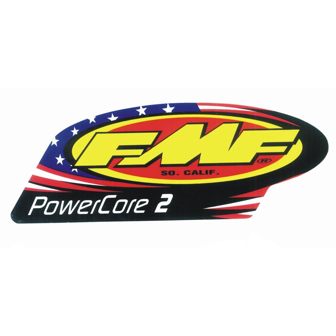 FMF Schalldämpfer-Sticker Powercore 2 Patriot