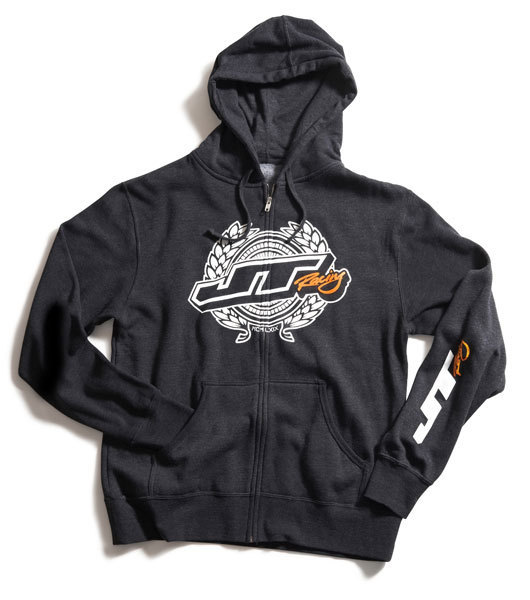 JT RACING USA Zip-Hoody Wreath Charcoal