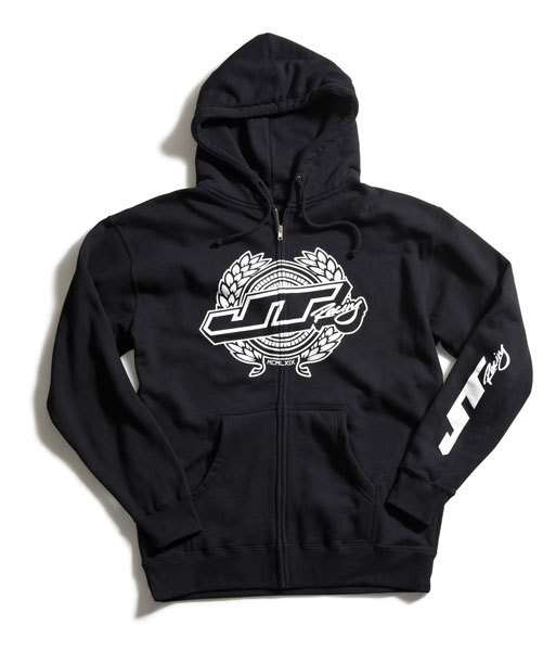 JT RACING USA Zip-Hoody Wreath Black