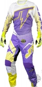 JT RACING 2015 MX Kinder Combo Flex Voltage Purple/Weiss/N.Gelb
