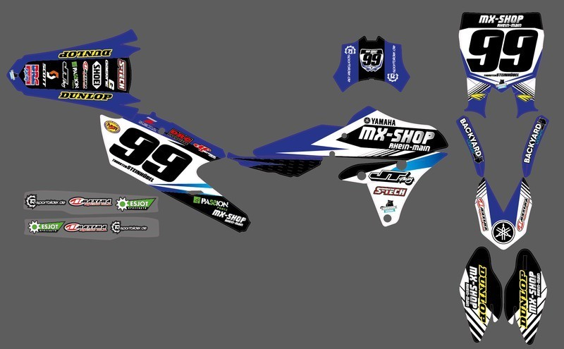 MX-Shop Team-Dekor Kit 2015/16 Yamaha