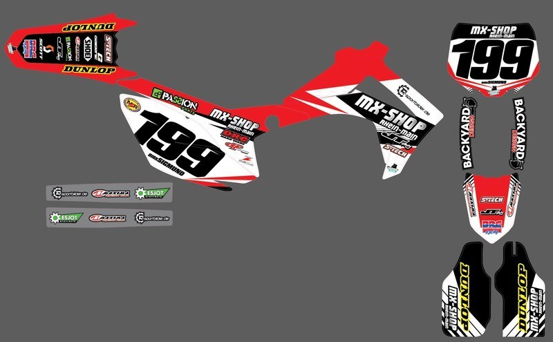 MX-Shop Team-Dekor Kit 2015/16 Honda