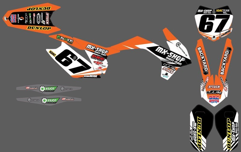 MX-Shop Team-Dekor Kit 2015/16 KTM