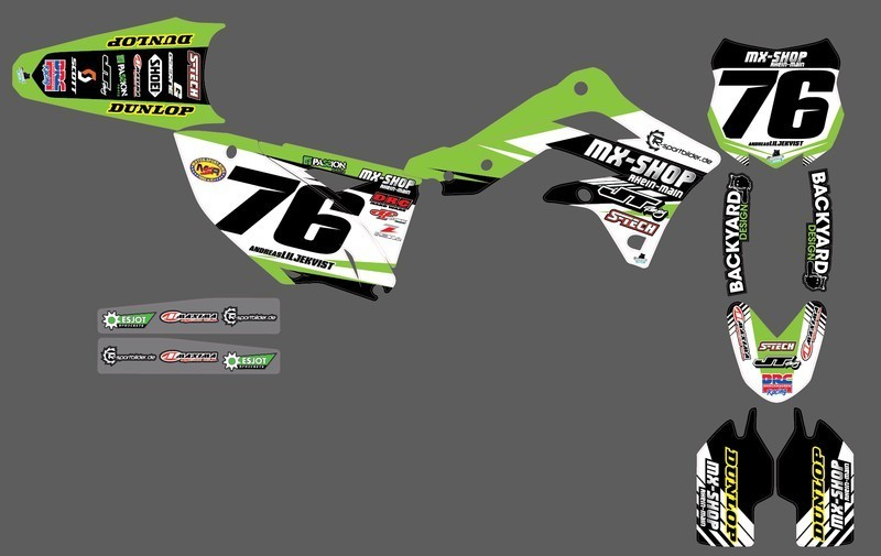 MX-Shop Team-Dekor Kit 2015/16 Kawasaki