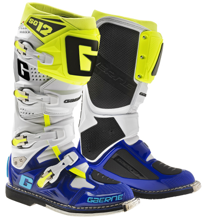 Gaerne Stiefel SG-12 Limited Edition BLUE-WHITE-YELLOW FLUO