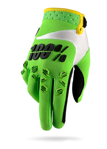 100% Handschuhe AIRMATIC Lime-Green KIDS