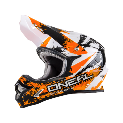 O`Neal 3-Series Helm SHOCKER Schwarz-Orange