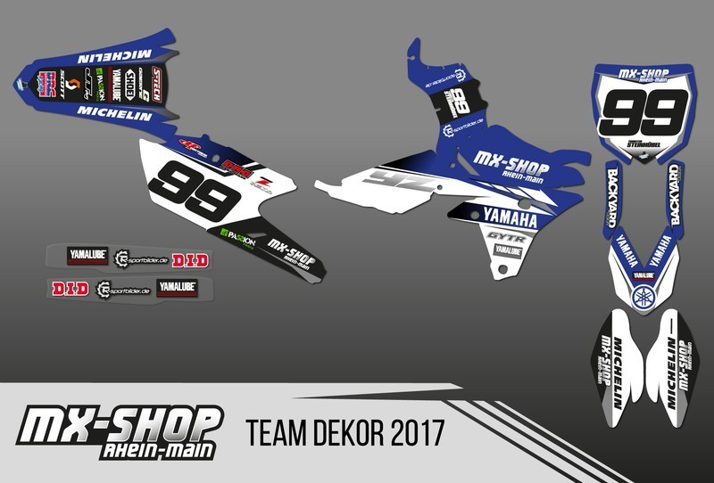 MX-Shop Team-Dekor Kit 2017 Yamaha