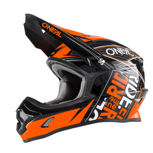 O`Neal 3-Series Helm FUEL Schwarz-Orange
