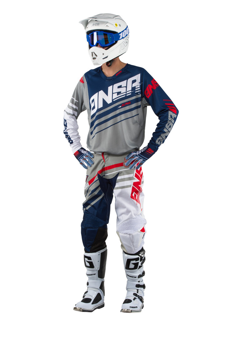 ANSWER MX Combo Alpha 17 Grau-Weiss-Navy