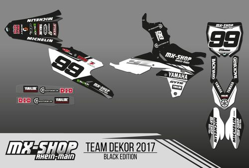 MX-Shop Team-Dekor Kit 2017 Black Edition