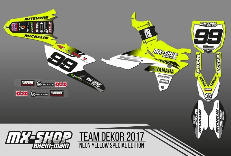 MX-Shop Team-Dekor Kit 2017 Neon-Gelb