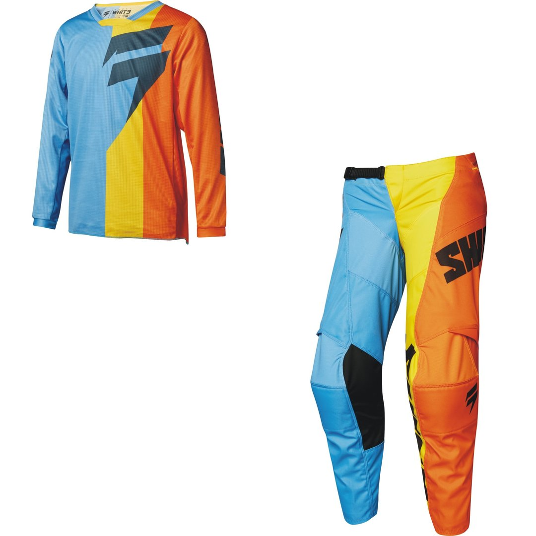 SHIFT Kinder MX-Combo WHIT3 TARMAC 2018 orange-blau