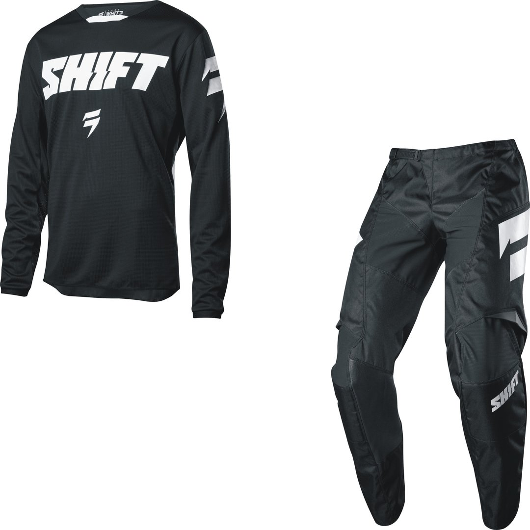 SHIFT Kinder MX-Combo WHIT3 97 2018 schwarz