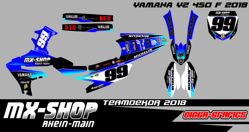 MX-Shop Team-Dekor Kit 2018 Yamaha