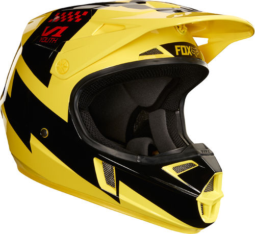 FOX Kids MX-Helm V1 MASTAR Gelb