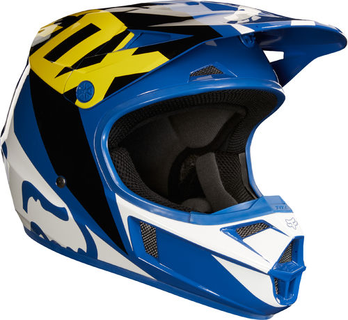 FOX Kids MX-Helm V1 RACE Blau