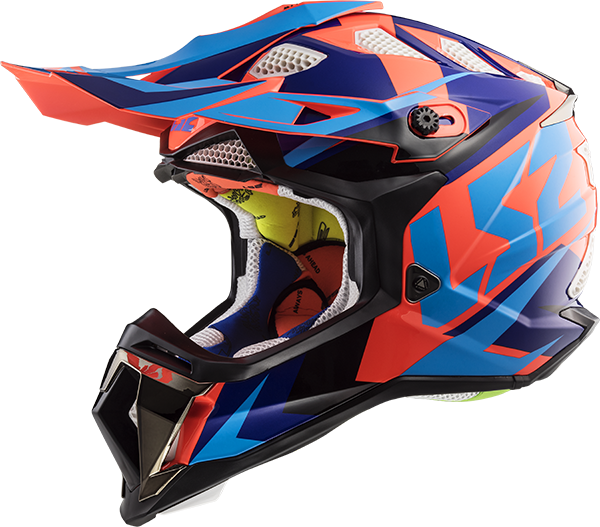 LS2 Helm MX470 Subverter NIMBLE schwarz-blau-orange