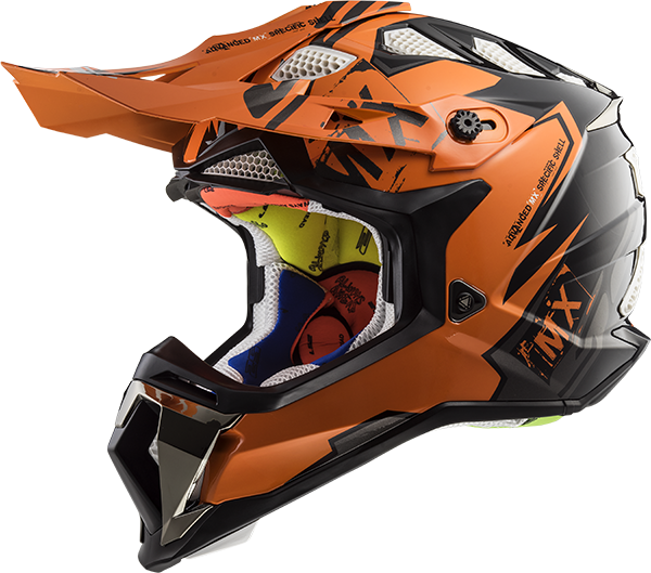 LS2 Helm MX470 Subverter EMPEROR schwarz-orange