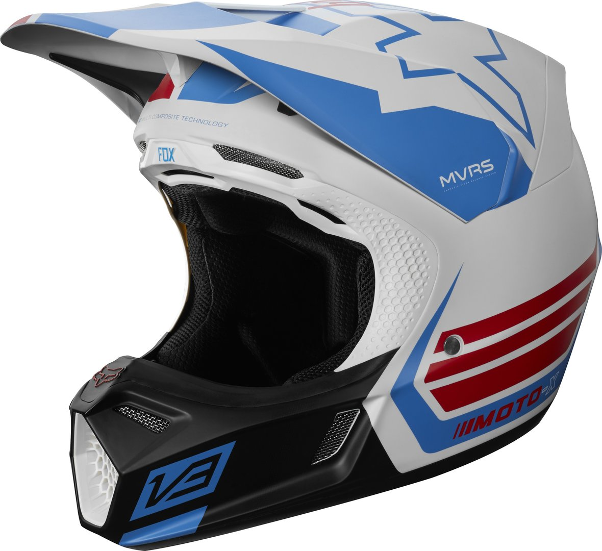 FOX MX-Helm V3 LE RED-WHITE-TRUE