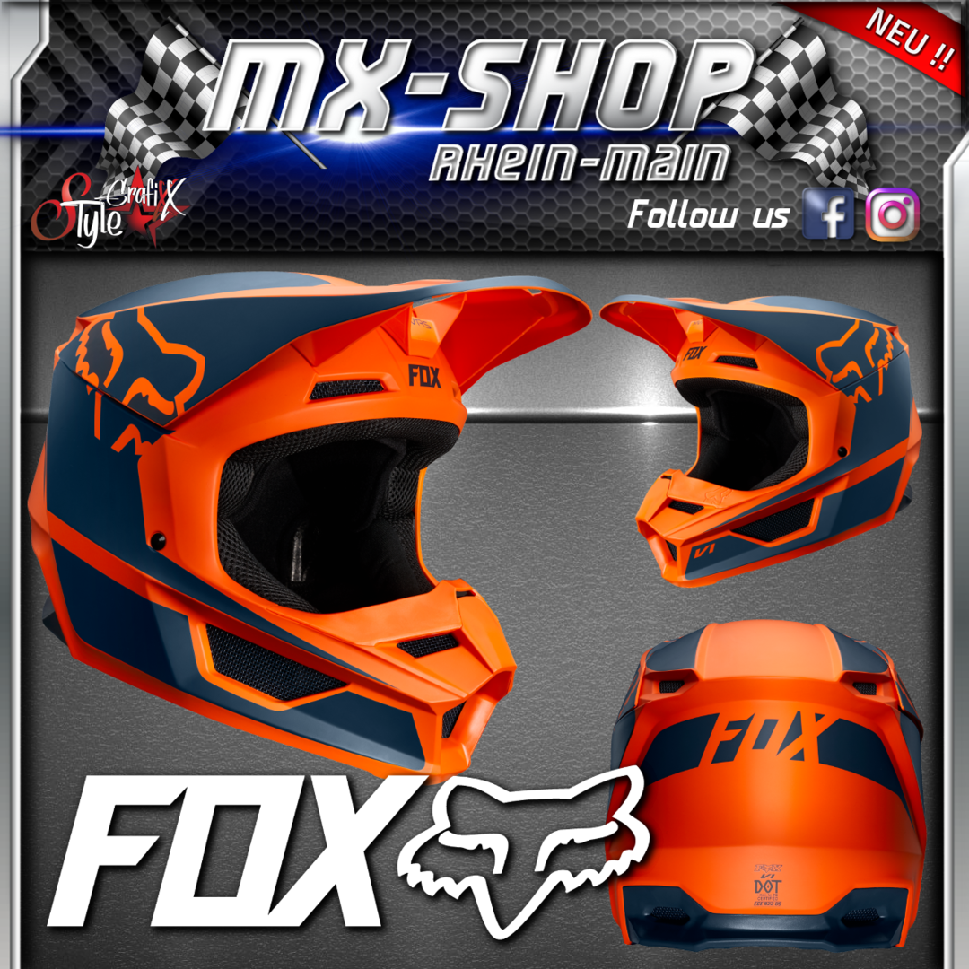 FOX Helm V1 youth PRZM Orange