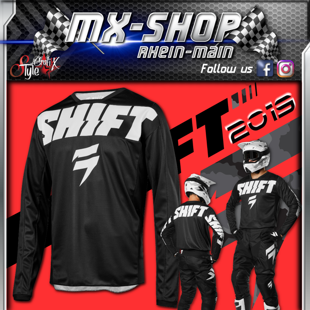 SHIFT Kinder MX-Combo WHIT3 York 2019 Schwarz