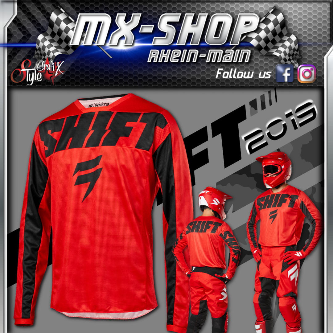 SHIFT Kinder MX-Combo WHIT3 York 2019 Rot