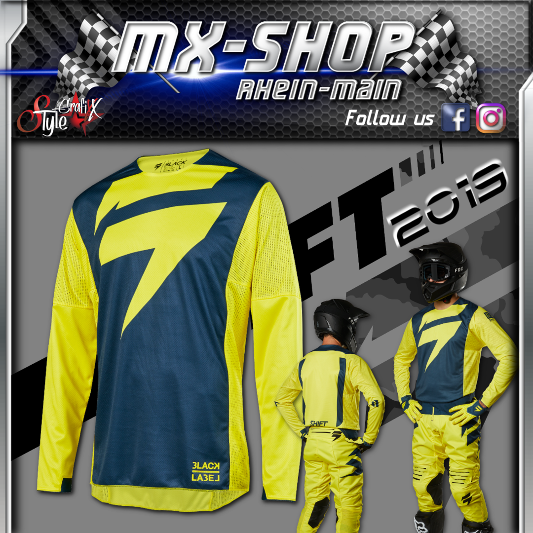 SHIFT MX-Combo BLACK Mainline 2019 Gelb-Navy