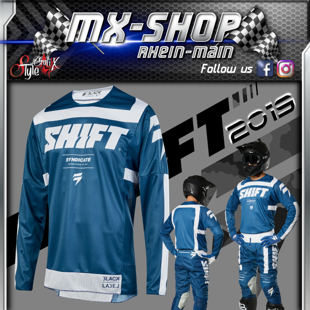 SHIFT MX-Combo BLACK Strike 2019 Blau