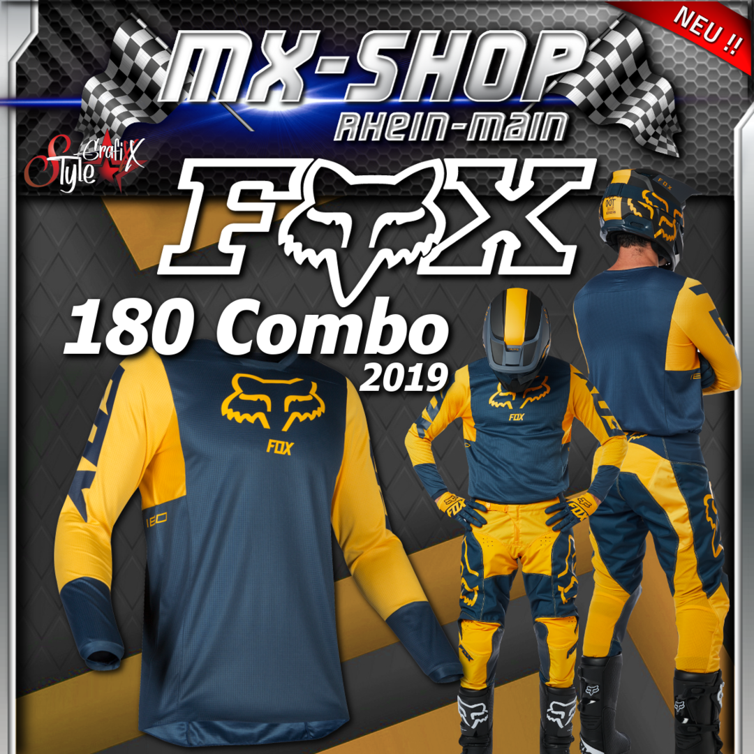 FOX MX-Combo 180 PRZM 2019 Navy-Gelb