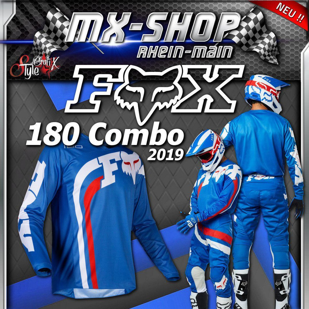 FOX MX-Combo 180 COTA 2019 Blau