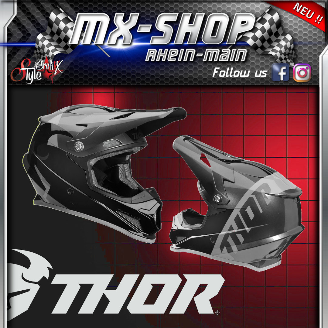THOR MX-Helm SECTOR SHEAR BLACK/CHARCOAL