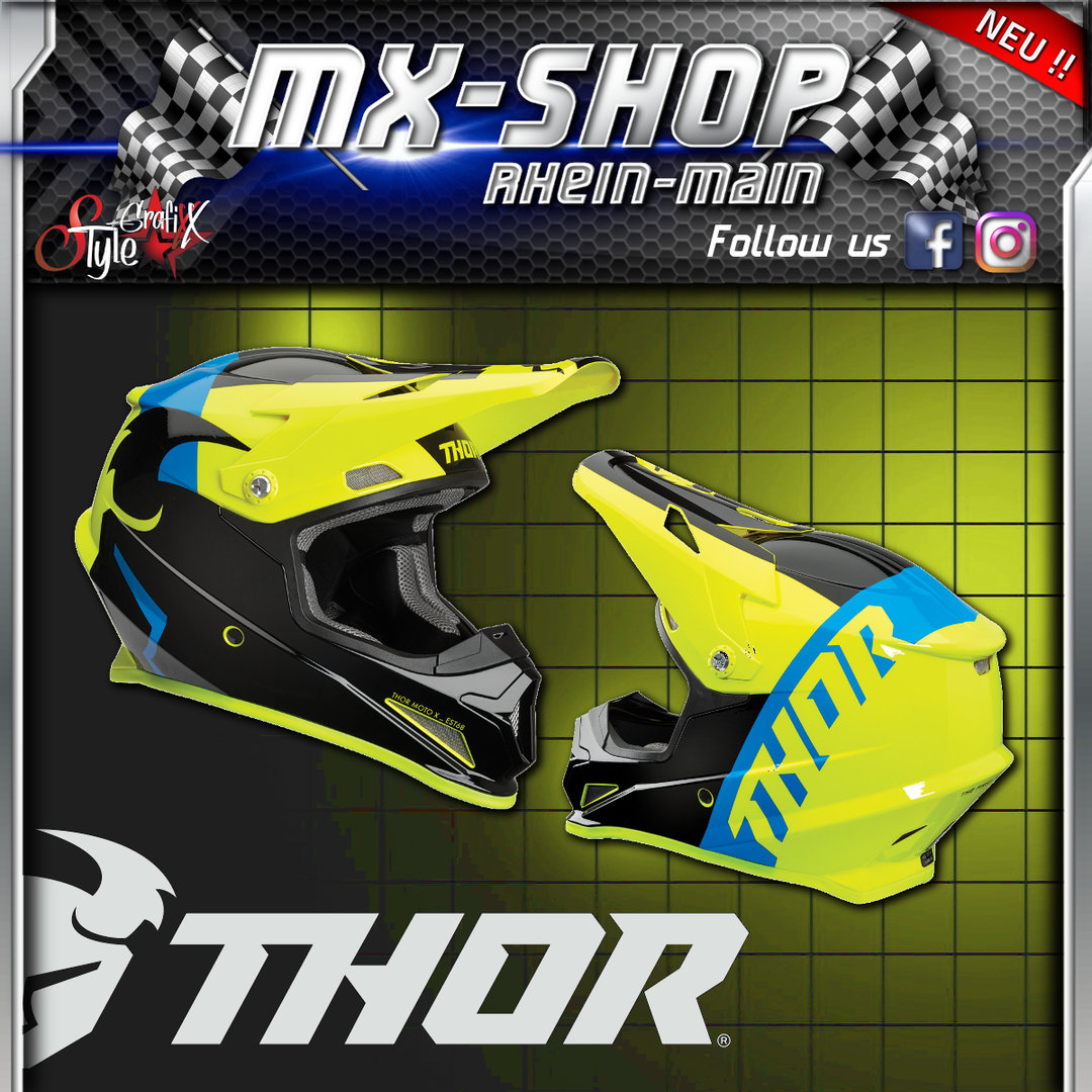 THOR MX-Helm SECTOR SHEAR BLACK/ACID
