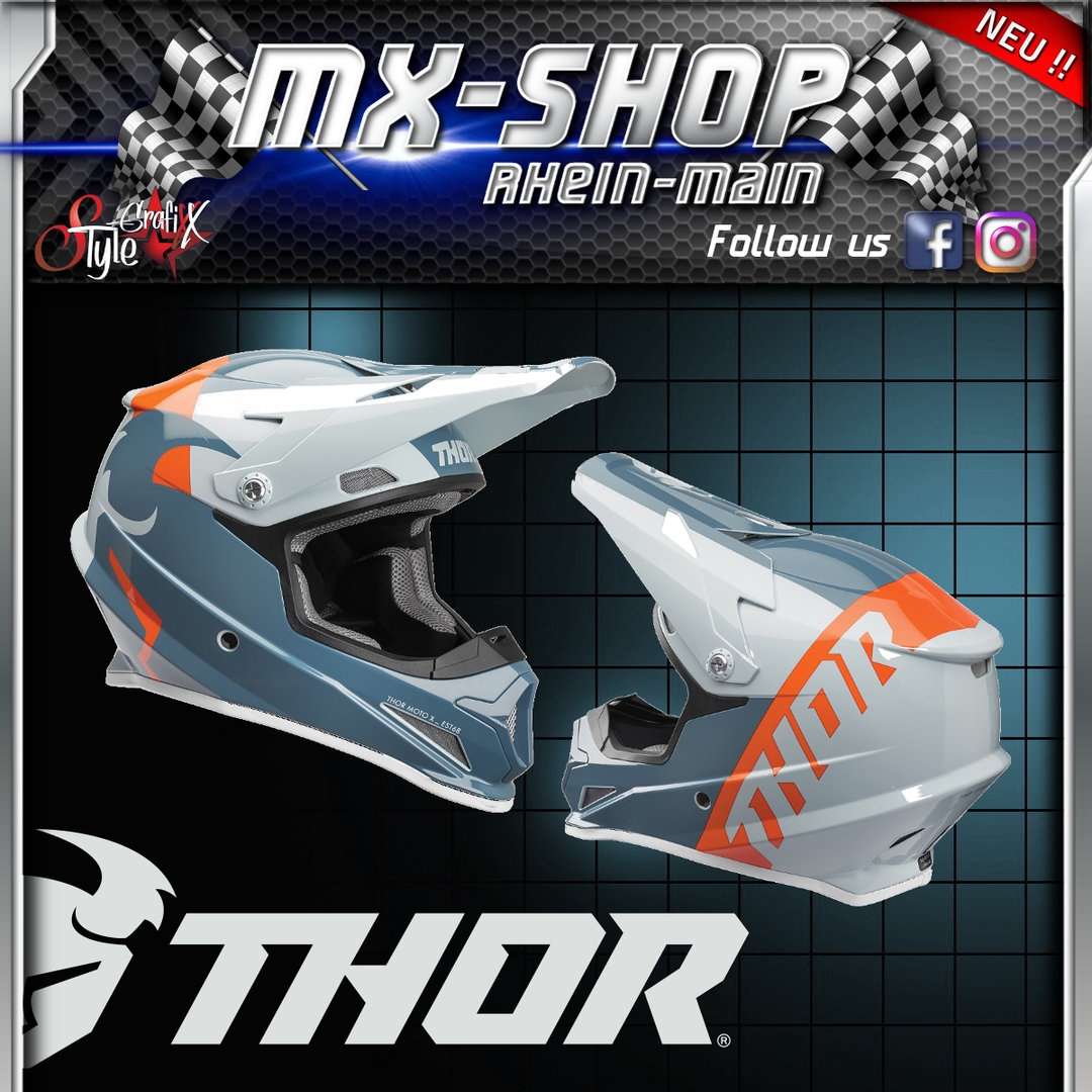 THOR MX-Helm SECTOR SHEAR SLATE/SKY