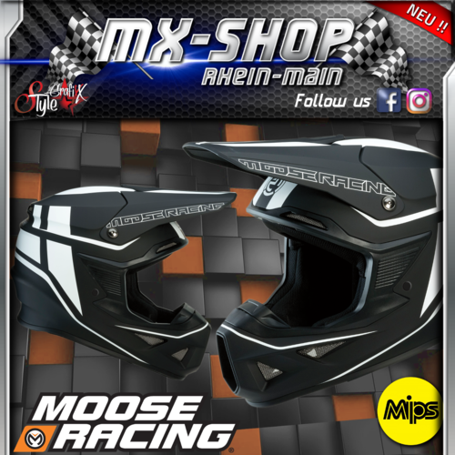 Moose-Racing Helm F.I.SESSION MIPS® schwarz-weiss