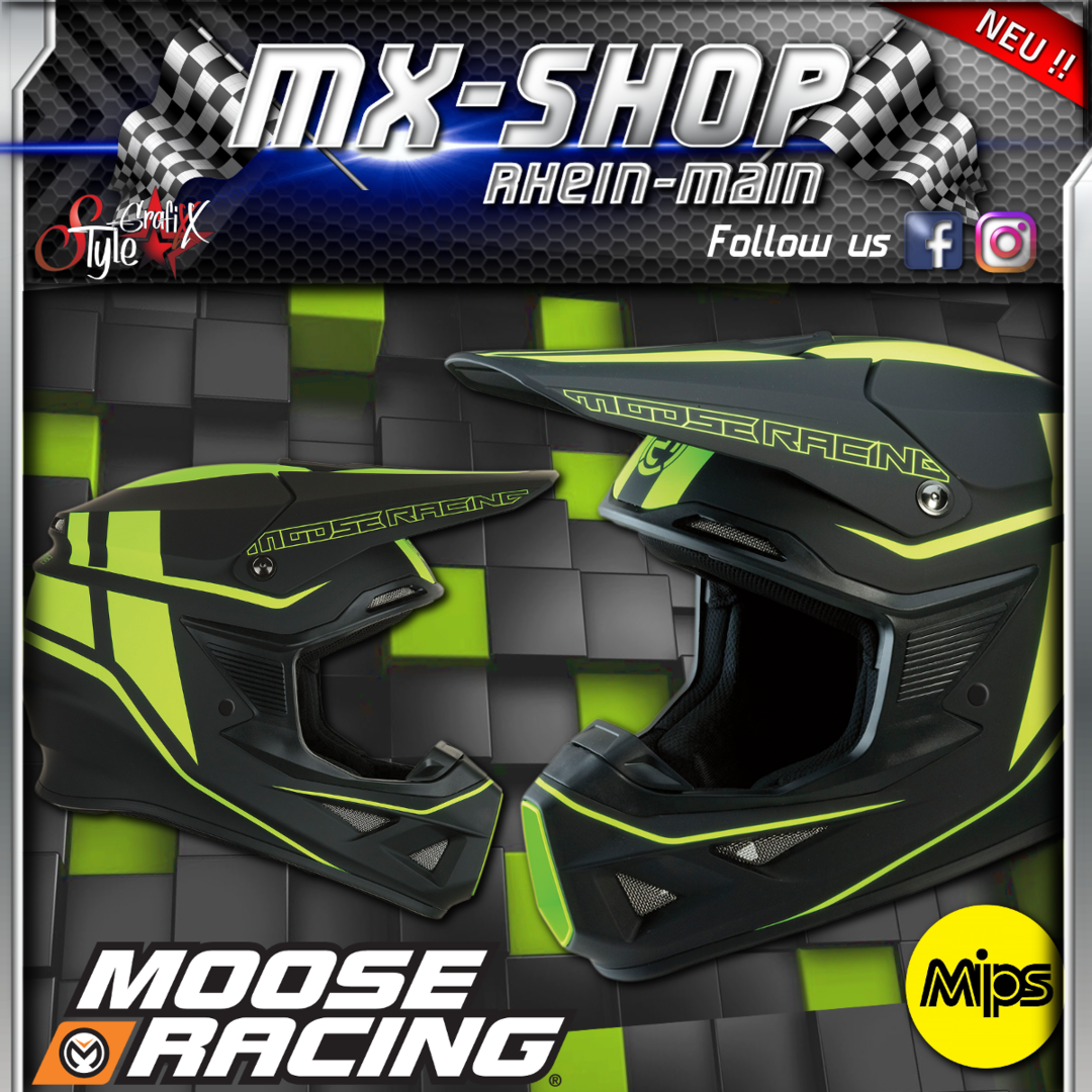 Moose-Racing Helm F.I.SESSION MIPS® schwarz-gelb