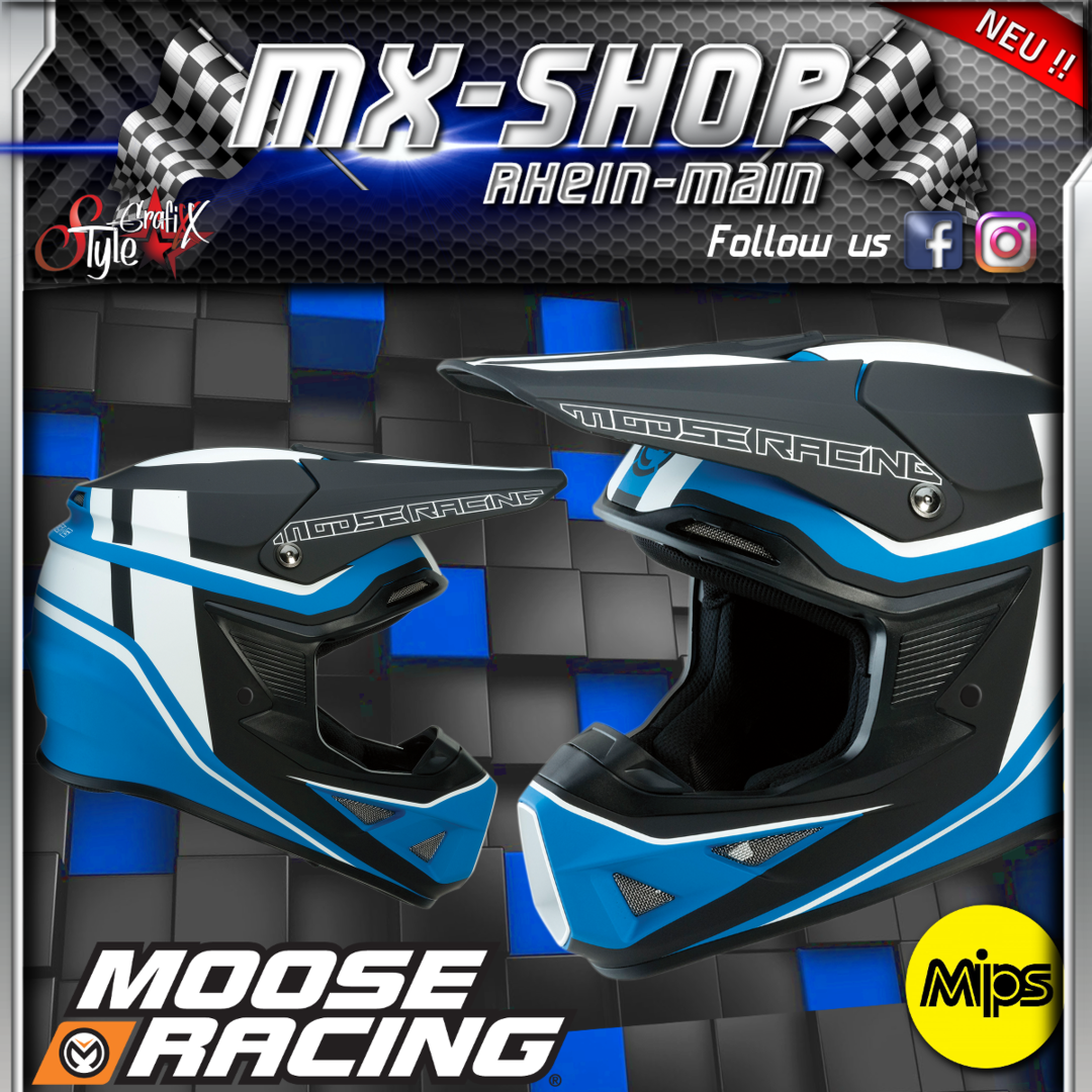 Moose-Racing Helm F.I.SESSION MIPS® schwarz-blau