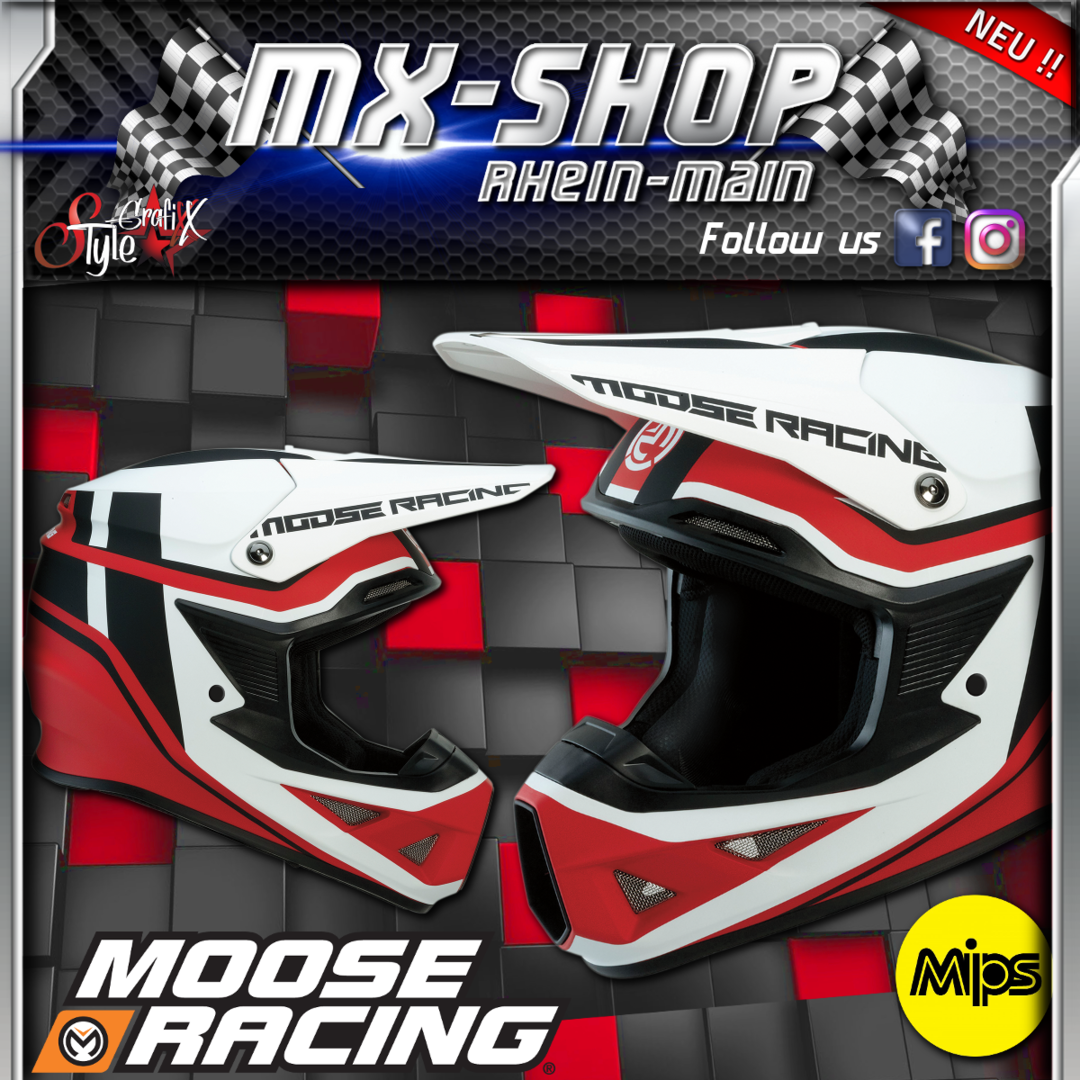 Moose-Racing Helm F.I.SESSION MIPS® rot-weiss