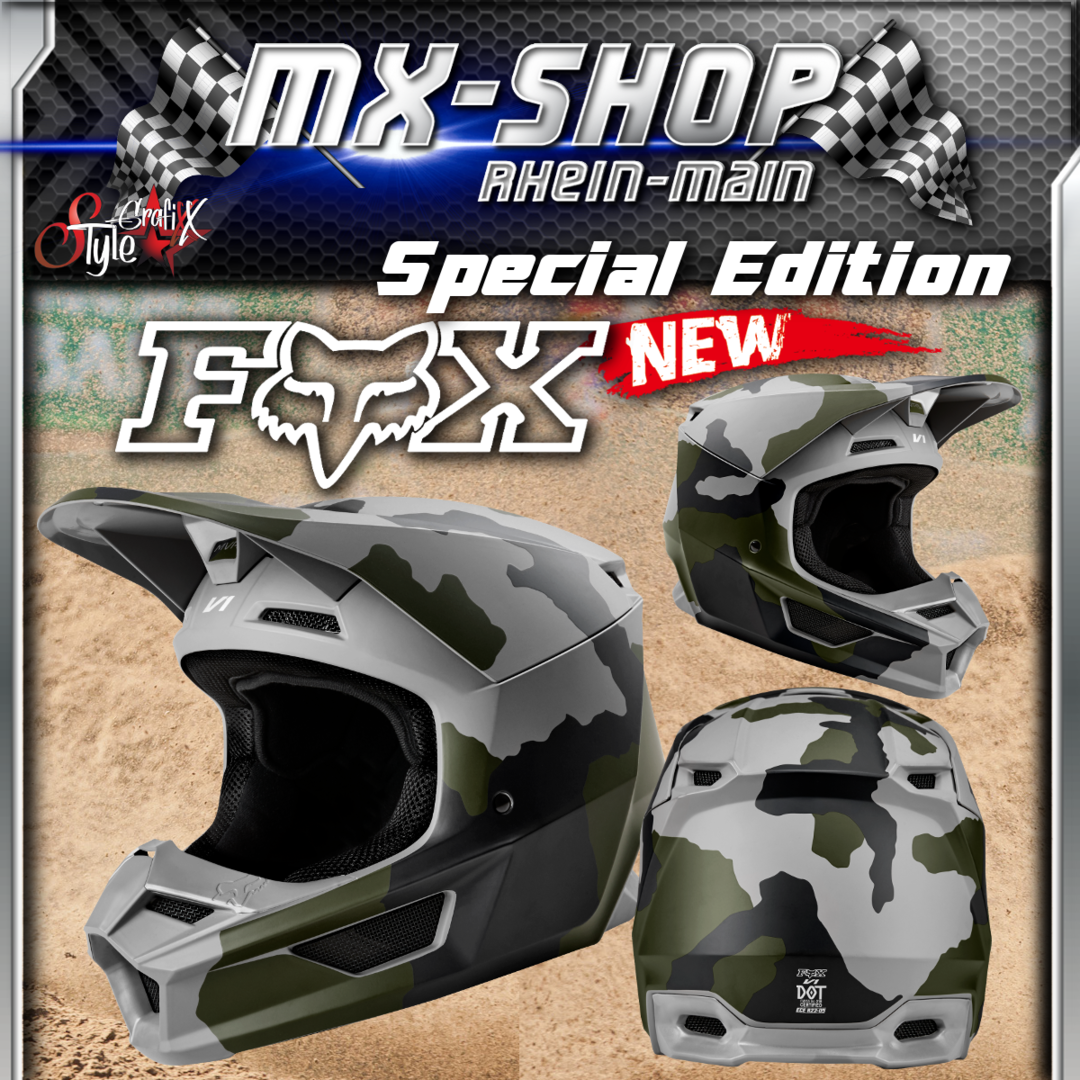 FOX MX Helm V1 PRZM SE CAMO