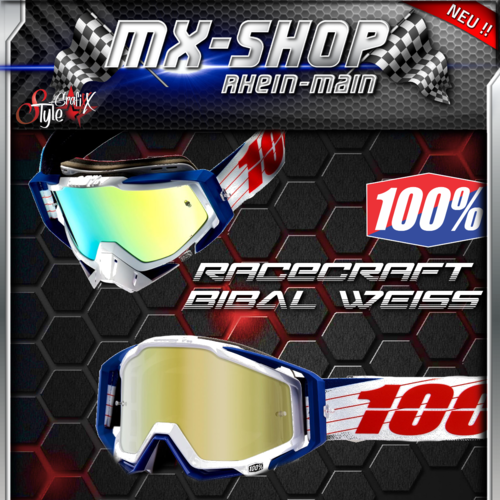 100% Brille RACECRAFT Bibal-Weiss