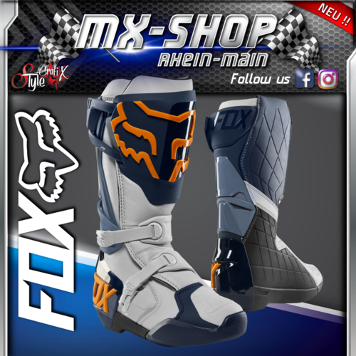 FOX MX-Stiefel COMP-R navy-orange