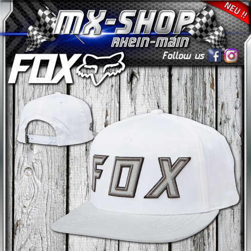 FOX Posessed Snapback Hat Weiss