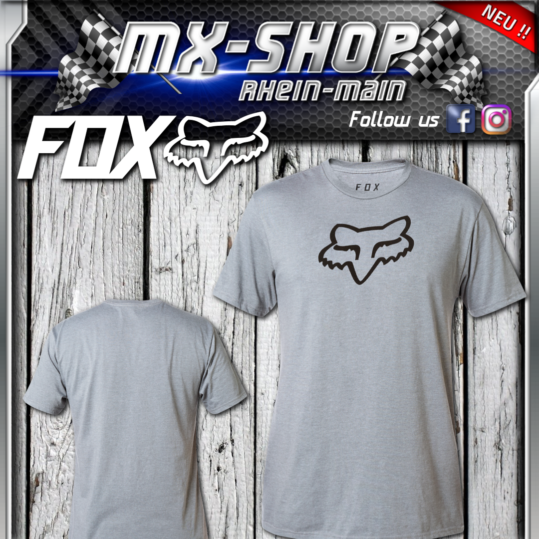 FOX Legacy Foxhead S/S T-Shirt Heather Graphite
