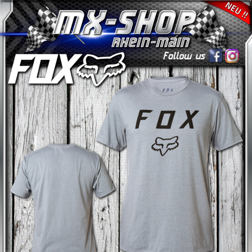 FOX Legacy Moth S/S T-Shirt Heather Graphite