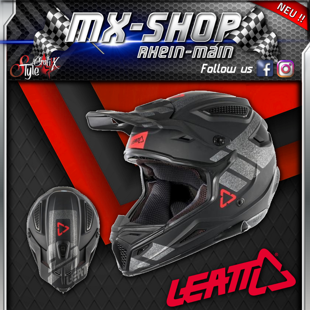 LEATT Helm 4.5 V24 schwarz-brushed
