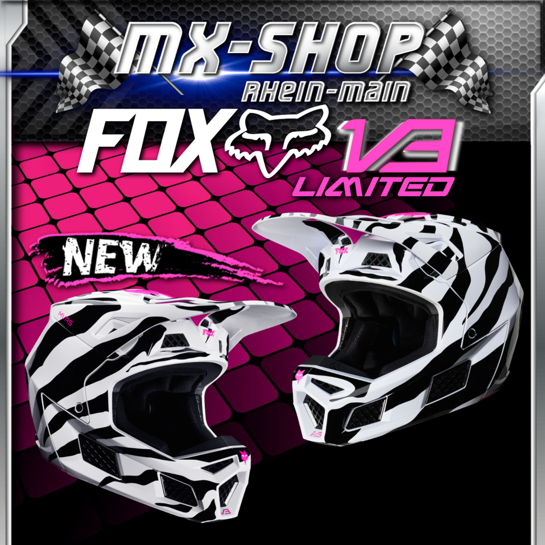 FOX MX Helm V3 ZEBRA LE 2020