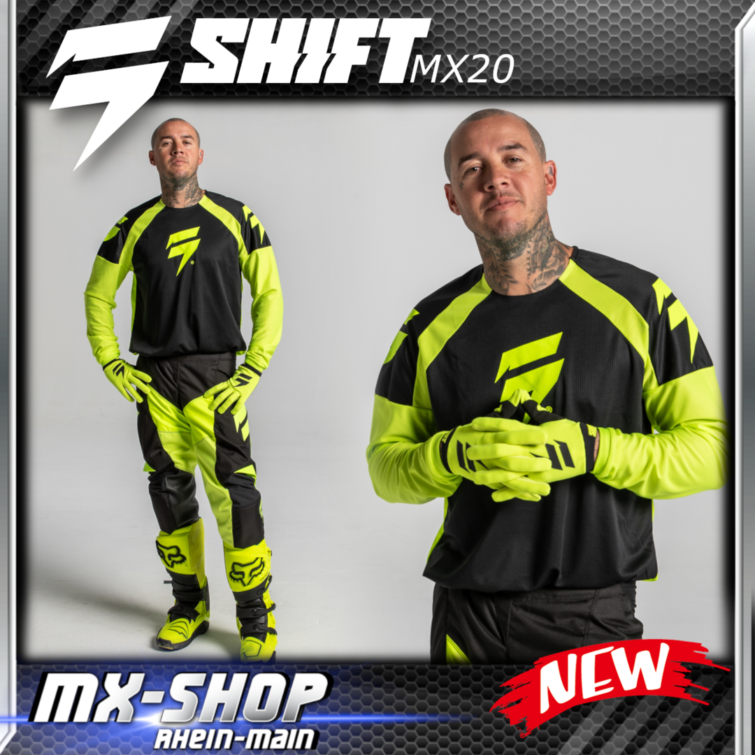SHIFT MX-Combo WHIT3 RACE 2020 Flo-Yellow