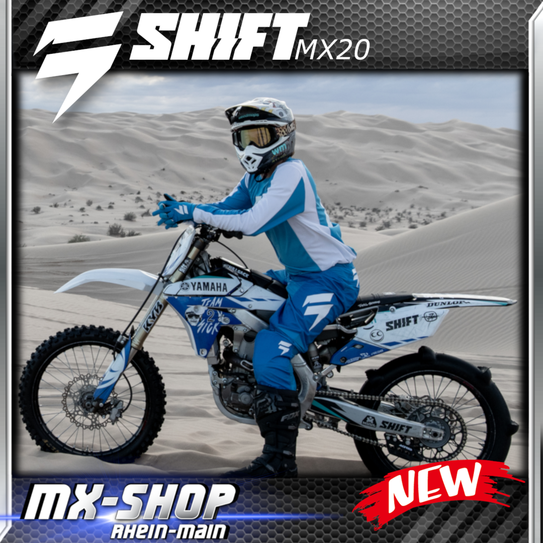 SHIFT MX-Combo WHIT3 RACE 2020 Blau-Weiss