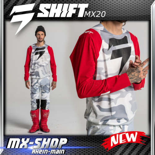 SHIFT MX-Combo 3LUE LABEL SNOW CAMO 2020
