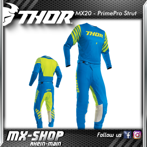 THOR MX-Combo PRIME PRO STRUT ELECTRIC BLUE/ACID